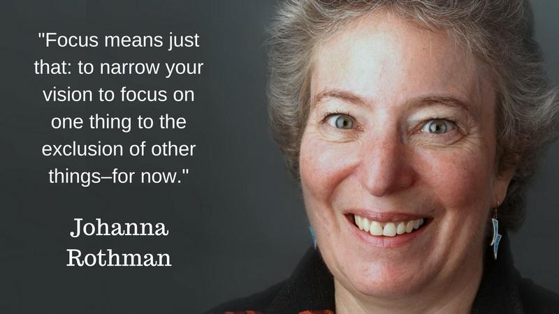 Johanna Rothman - setting goals focus