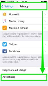 Privacy settings iphone facebook ads